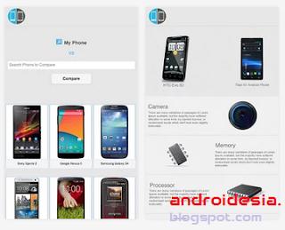 Mobile Compare - Aplikasi Android untuk Membandingkan spesifikasi HP