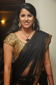 Sravya reddy sizzling saree photos-thumbnail-9