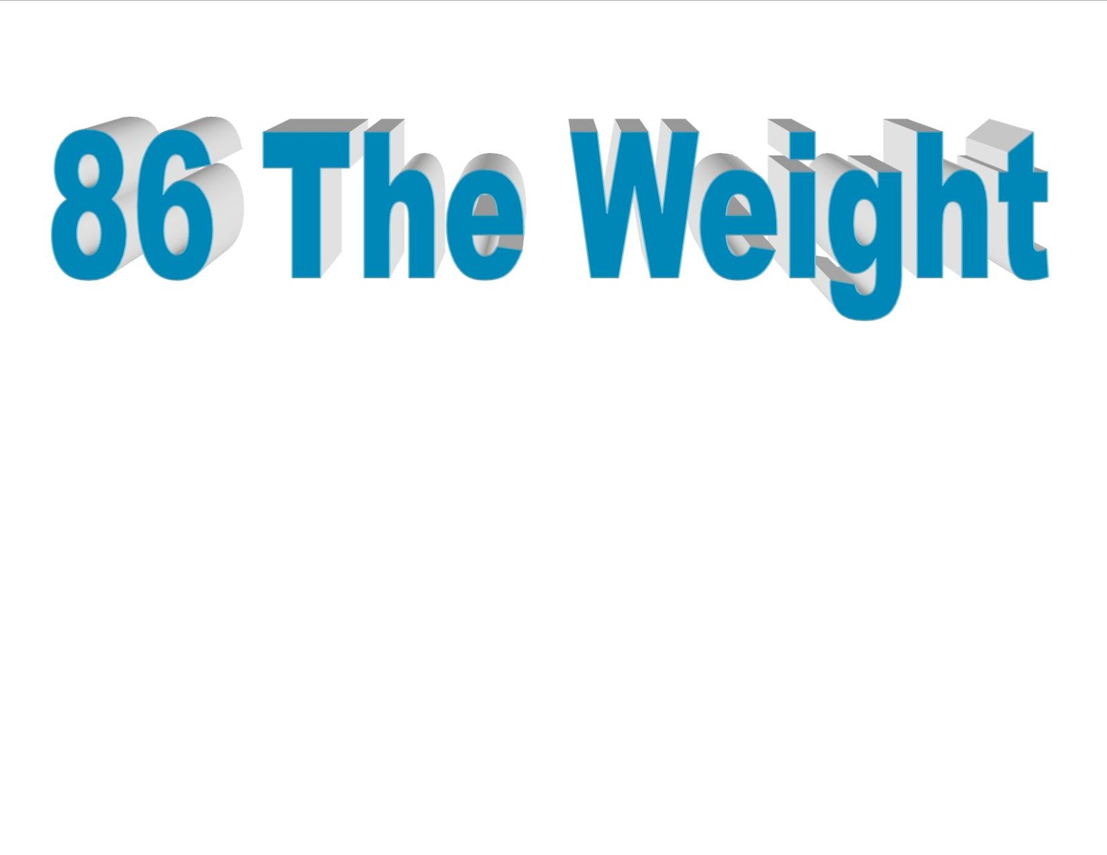 86TheWeight