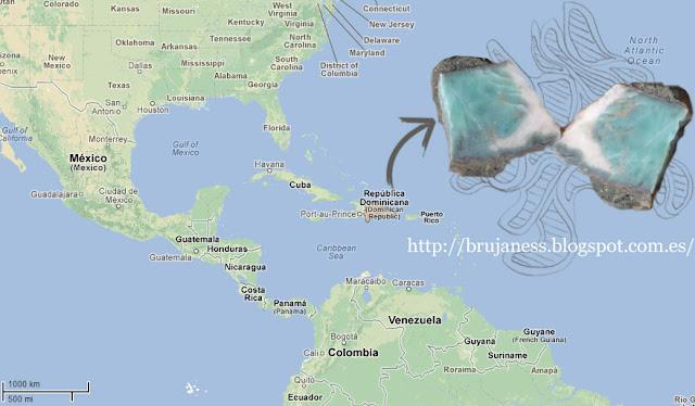 Larimar is only found in Dominican Republic/ El Lárimar se encuentra únicamente en República Dominicana, map, mapa, piedra, gema, geoda, stone, gem, gemstone