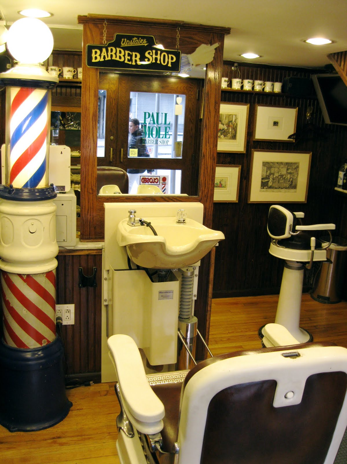 Old Barber Chairs >> Mitch Broder's Vintage New York: Paul Molé Barber Shop ...