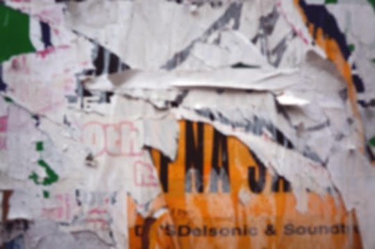 blurred, photography, torn posters, urban decay, art,