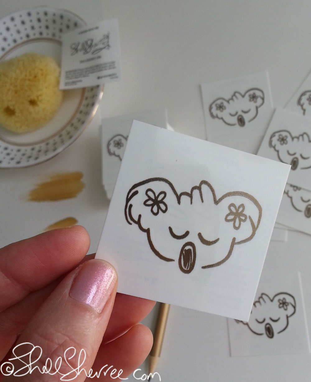 Gold Koala Temporary Tattoos