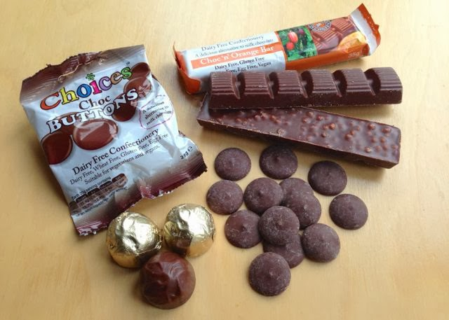Choices vegan Santa Sack of dairy-free chocolates