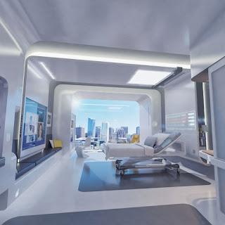 gambar kamar tidur modern terbaru desain futuristik foto