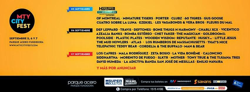 Programa Monterrey City Fest 2014