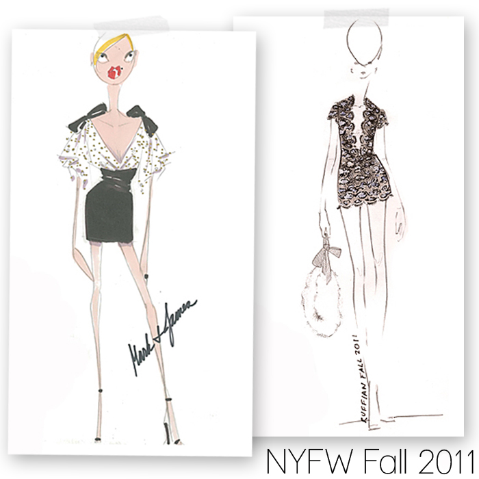 Hot Fashion Design Sketches