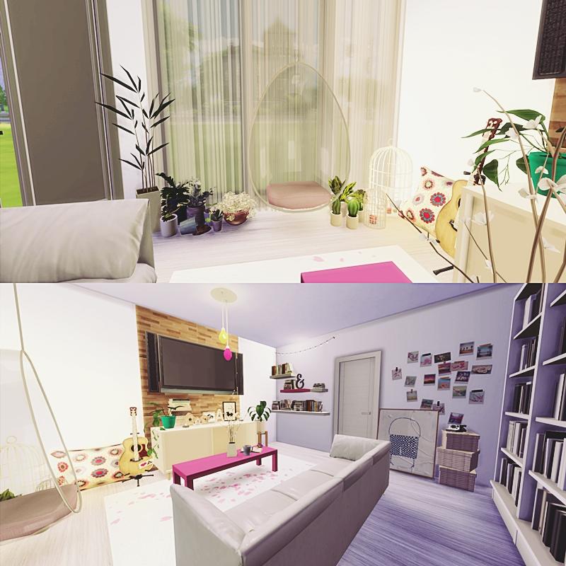 Cute Room Living Room: My Sims 4 Blog: Cute Living Room