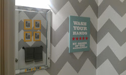 Our chevron powder room