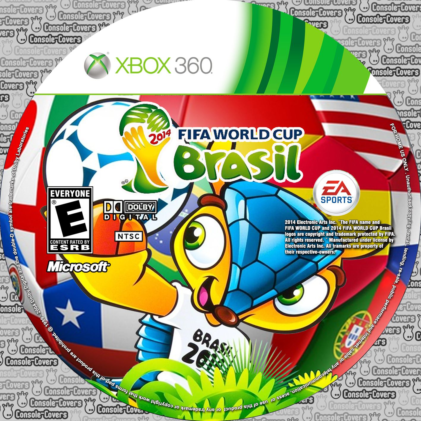Label 2014 Fifa World Cup Brasil Xbox 360