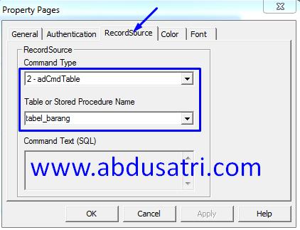 contoh program koneksi database acces 2007
