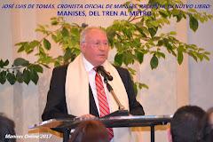 27.01.17 EL CRONISTE OFI- CIAL DE MANISES, JOSÉ LUIS DE TOMÁS, PRESENTA EL SEU NOU LLIBRE.