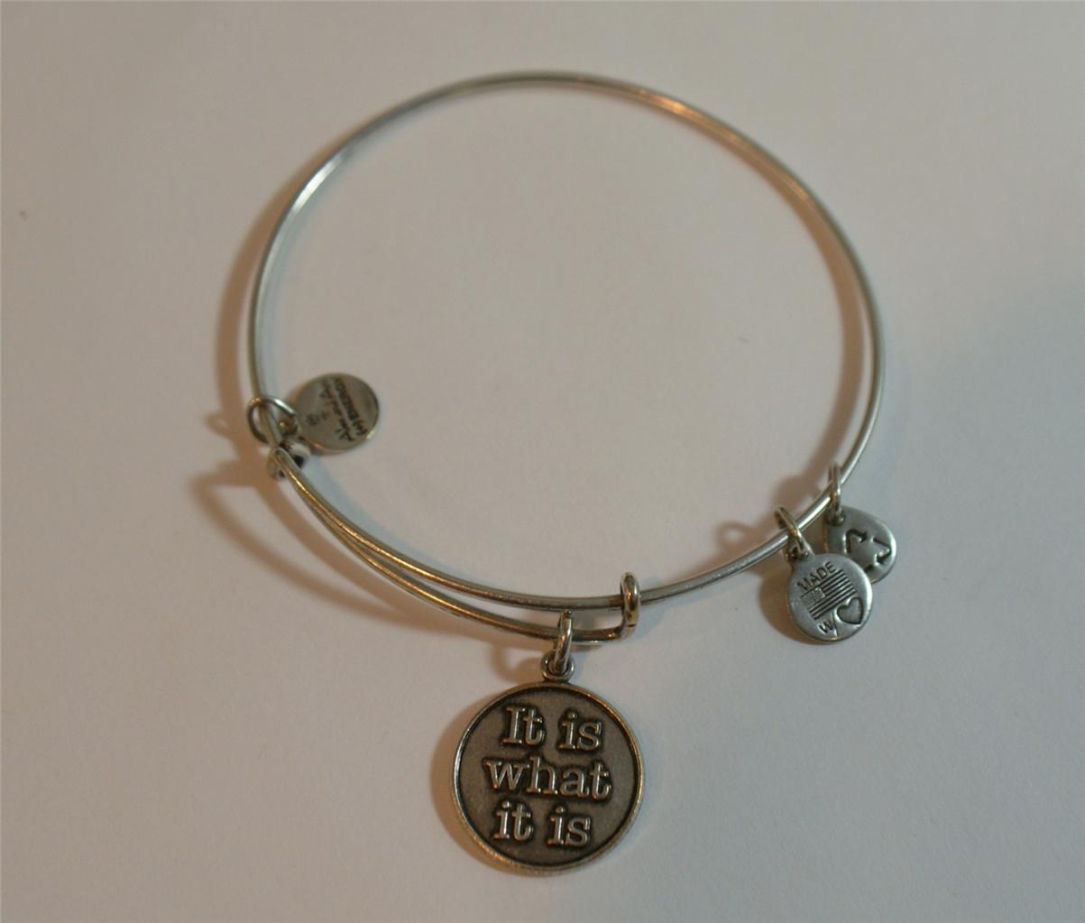 Alex And Ani It Is What Bracelet Silver Tone