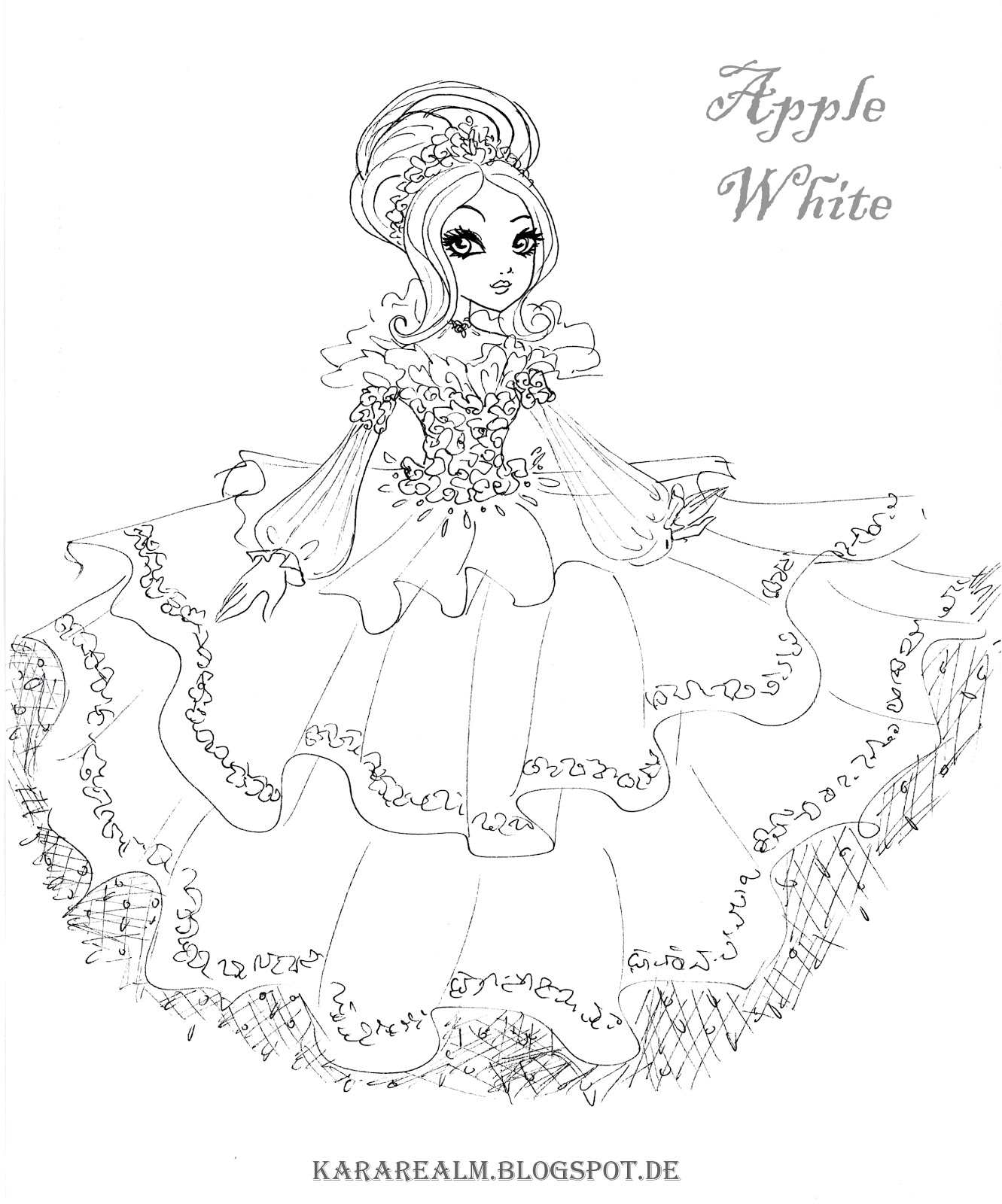 free coloring pages of ever after high maddie