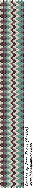"""Схема браслета """"Зигзаг"""" - мозаичное плетение"""