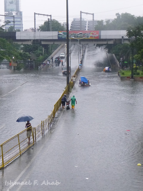 Flooded Lawton Area, Manila due to Habagat floods
