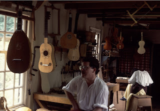 A stringed instrument shop