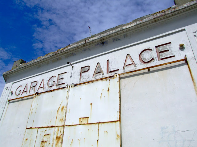 Old garage palace in Cabourg, france