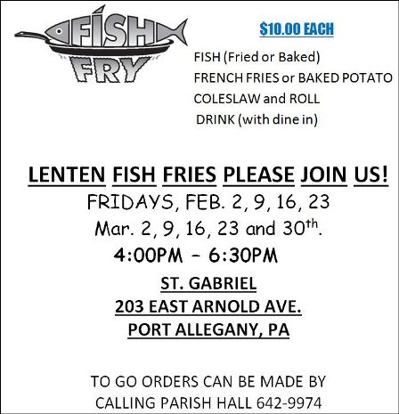 2-23 Fish Fry, St. Gabriel