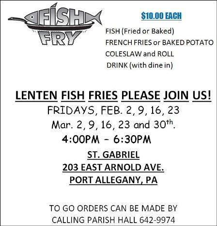 3-23 Fish Fry, St. Gabriel