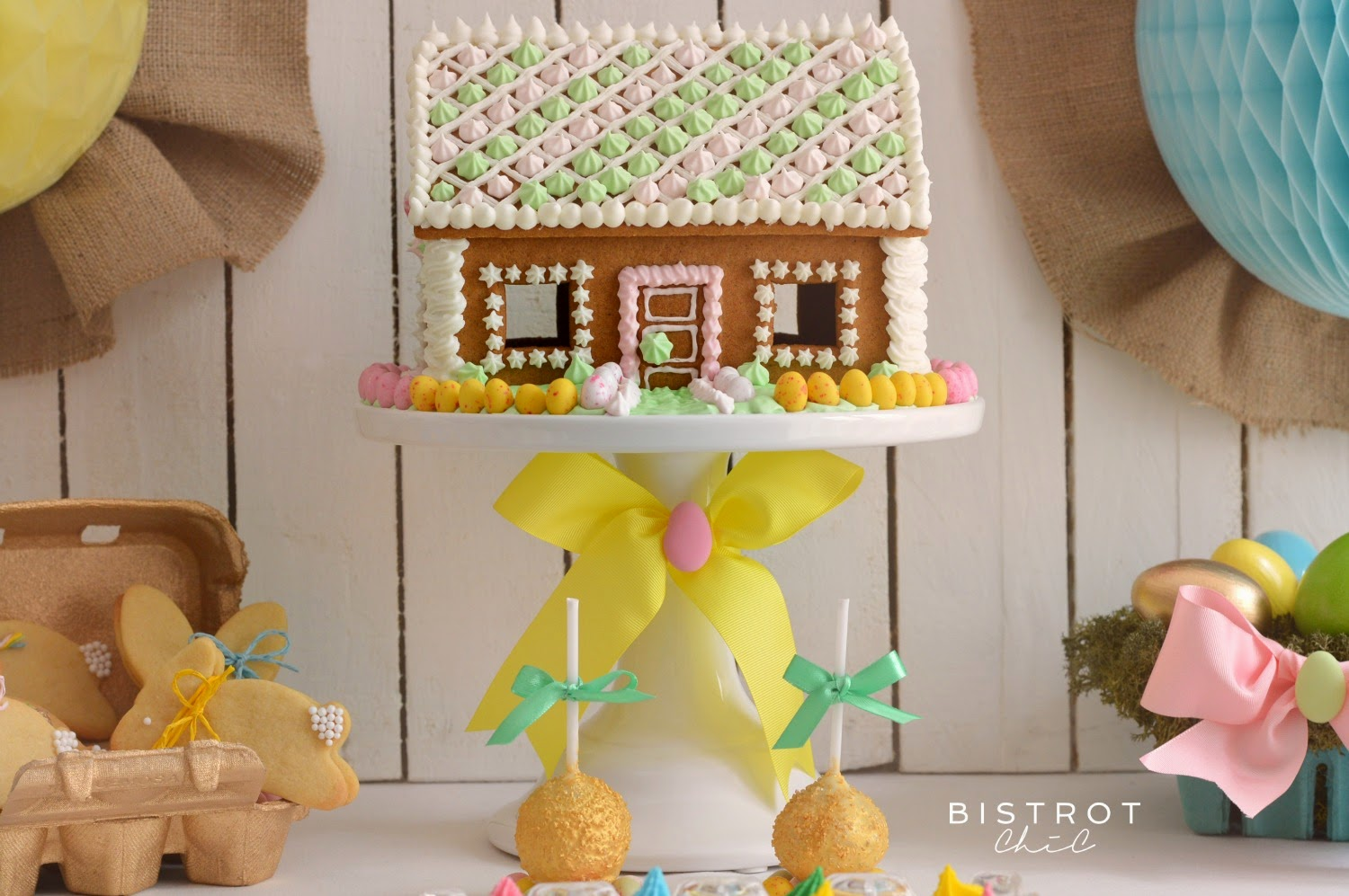 Easter Party Gingerbread House by BistrotChic