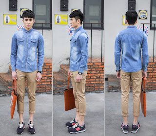 Kemeja Pria Korea