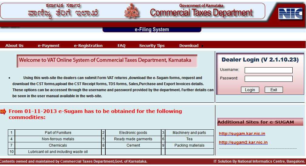November 2013 manjunatha ananda using vat soft the dealers can submit form vat returns download the e sugam forms request and download the cst formsupload the cst receipt forms spiritdancerdesigns Gallery