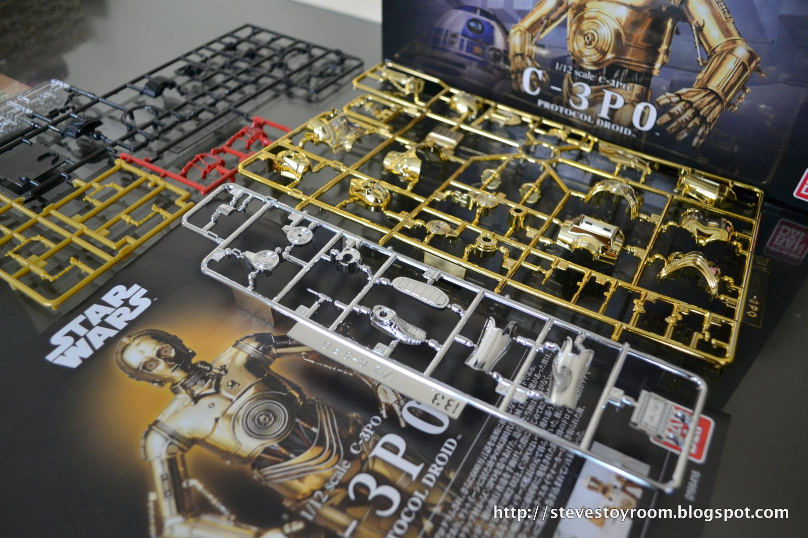 Above is just a portion of the parts to build C3PO. I selected the ...