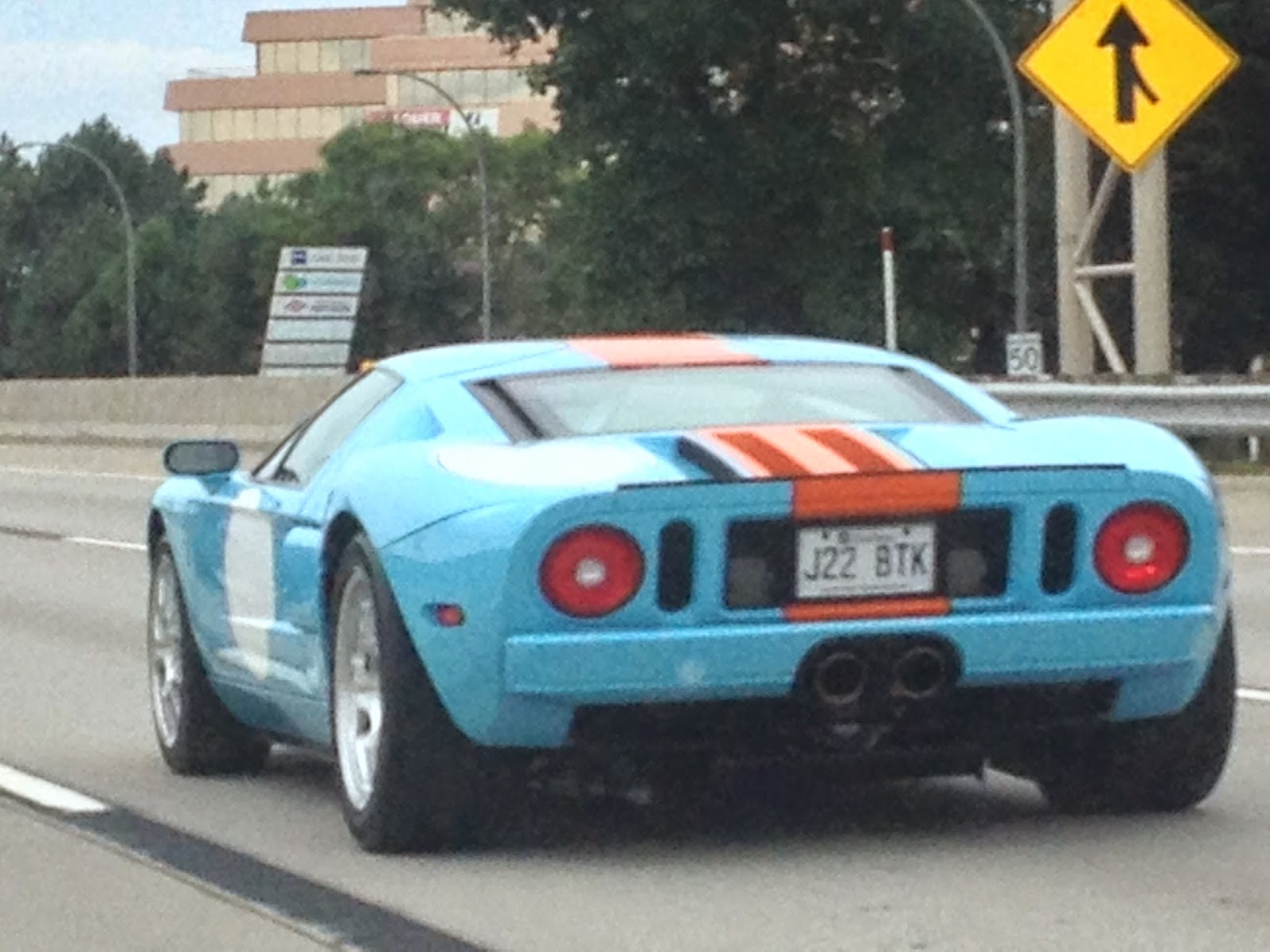 Blue and Orange Gulf Racing Ford GT40