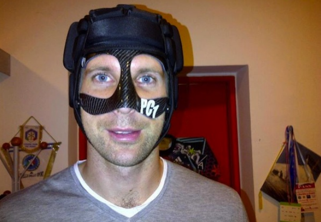"Petr Cech's "" contraption"" has evolved."