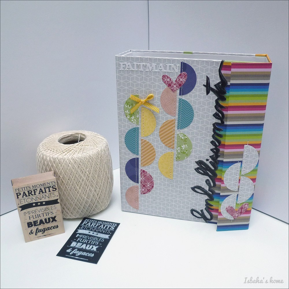 an embellishment folder with homemade PL cards inside and lots more