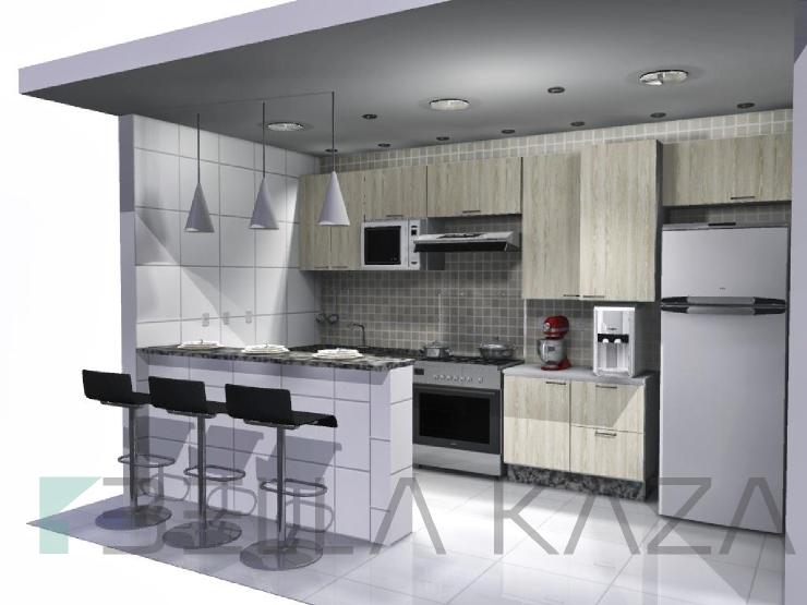cozinha americana projetada