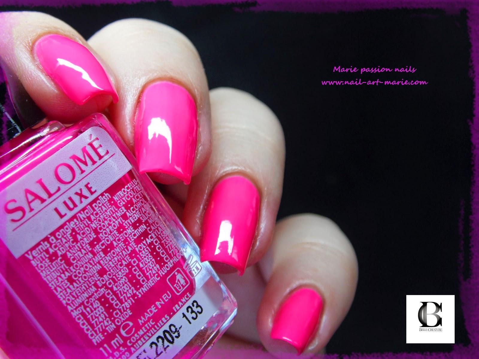 Salomé Luxe rose fluo2