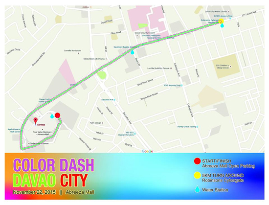 Color Dash Davao City Route