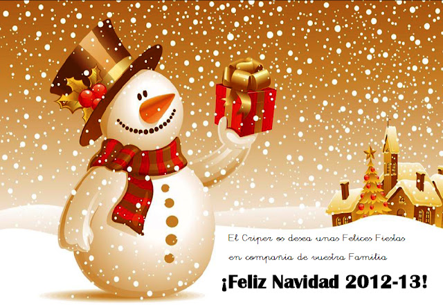 El Colegio CPR CRIPER os desea una Feliz Navidad Cantando 2012-13