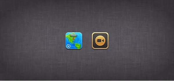 Maps and Video Icons