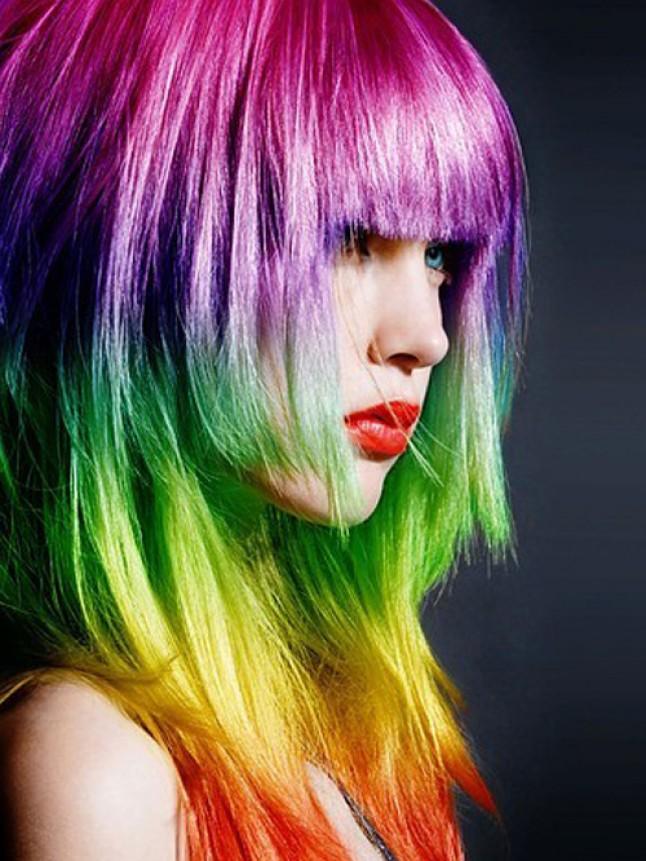 Neon saç modeli-4