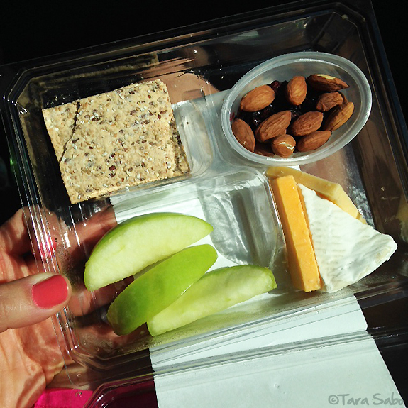 food, snacks, apple, gouda, cheese and crackers, almonds