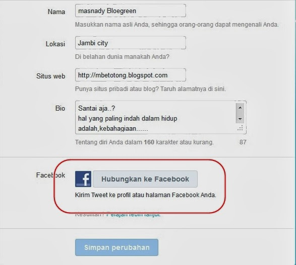Menghubungkan Twitter Dengan Facebook