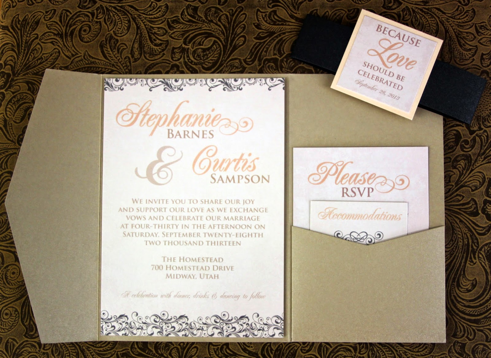 here is a sneak peak of the pocket wedding invitations that will be soon on the blog - Wedding Invitations Utah