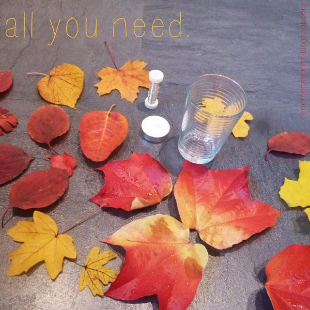 Enemenemeins easy peasy herbstdeko tutorial - Herbstdeko kindergarten ...