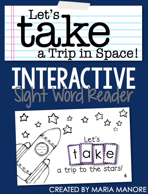 "emergent reader for sight word ""TAKE"""