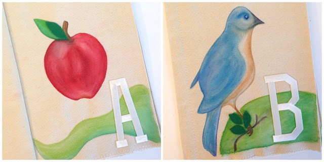 watercolor handmade ABC children's soft book
