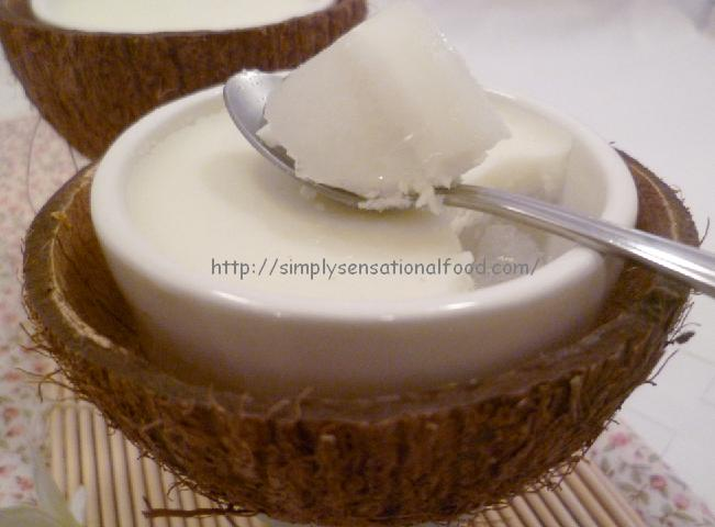 simply.food: Singapore Coconut milk pudding.