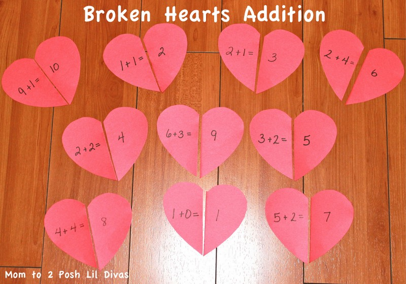 valentines day fun heart math for preschool kindergarten