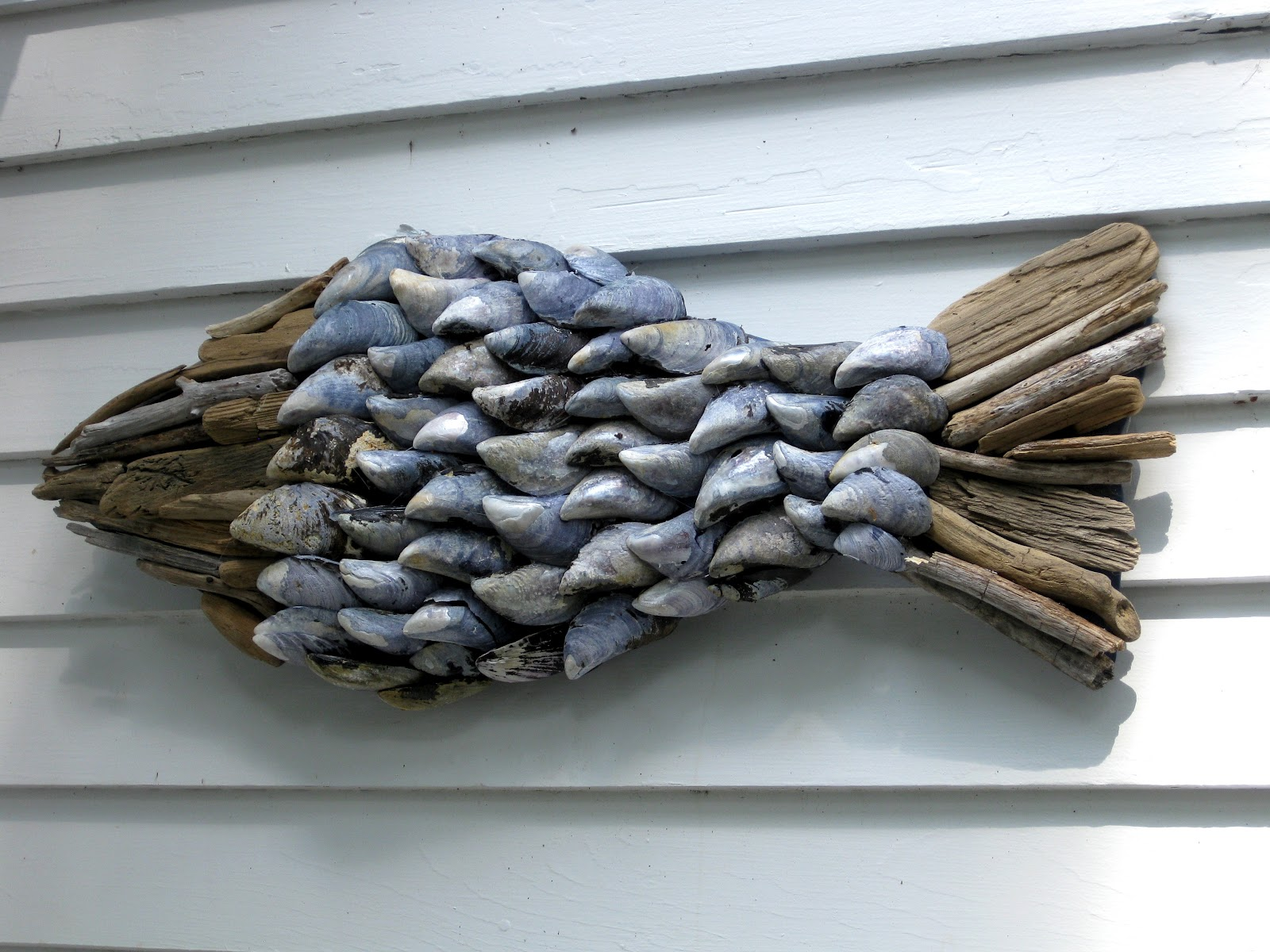 Of Sage And Sepia Driftwood Shell Wall Hanging