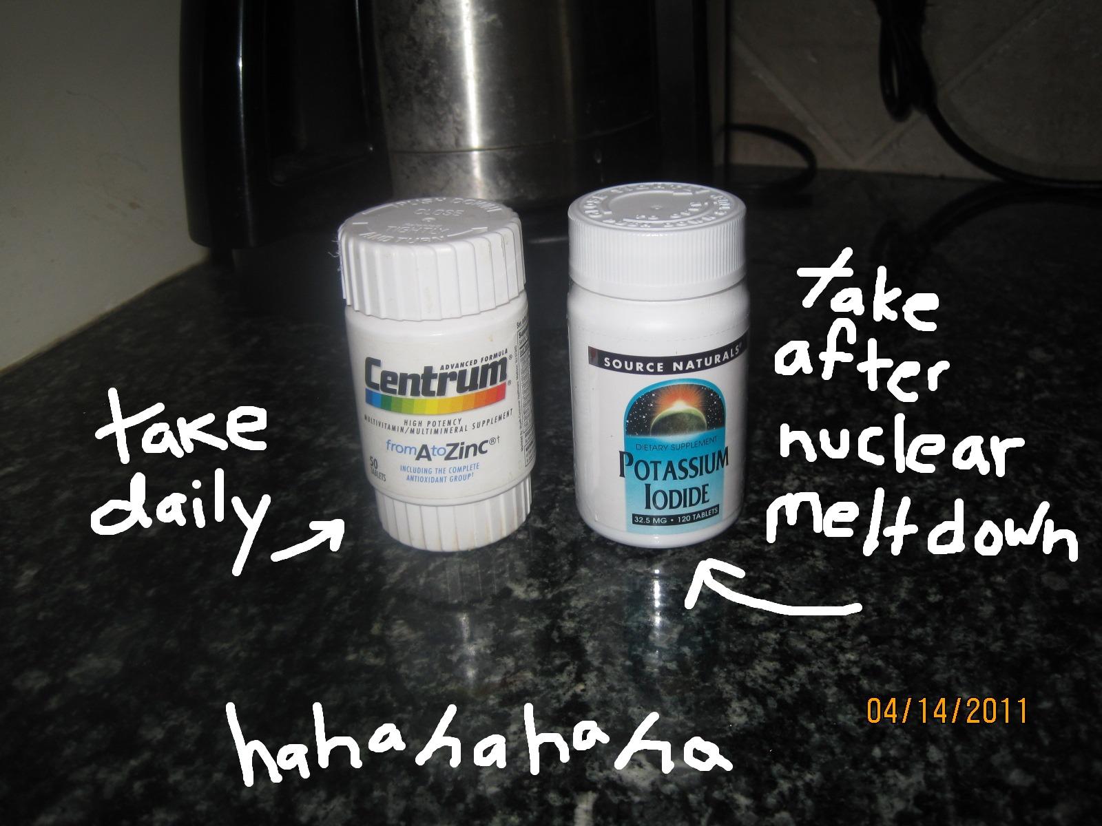 Radiation pill