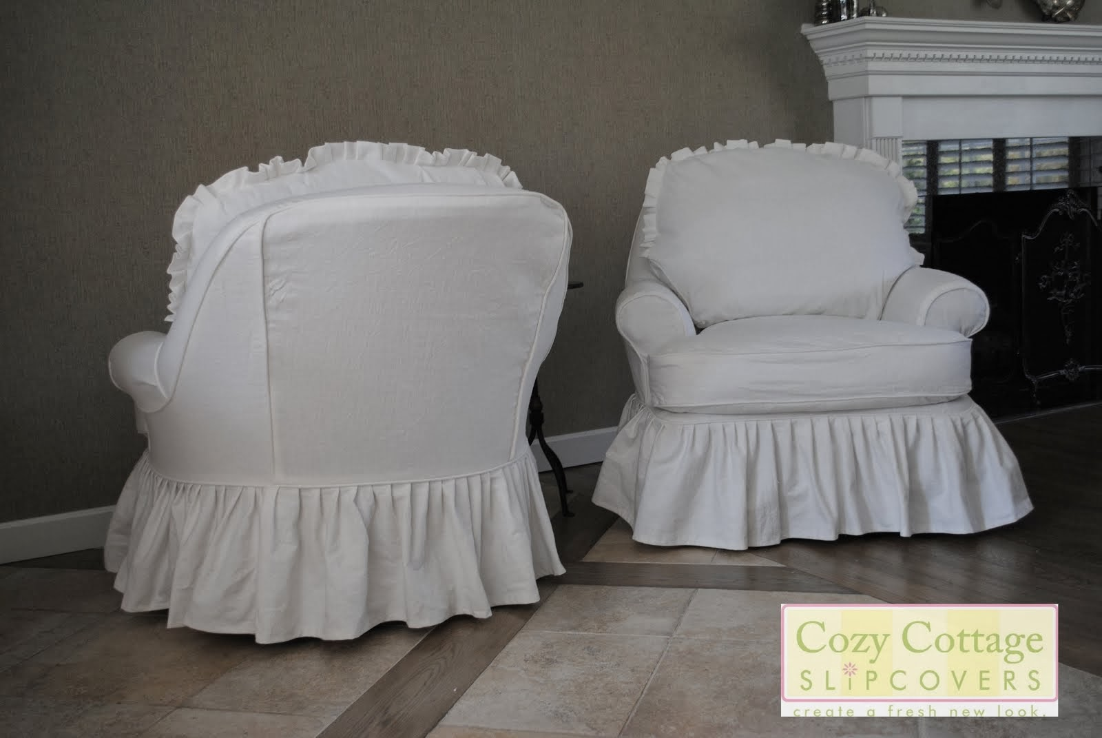 Cozy cottage slipcovers new office chair slipcovers -