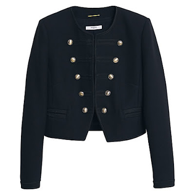 Mango Military Embroidered Jacket