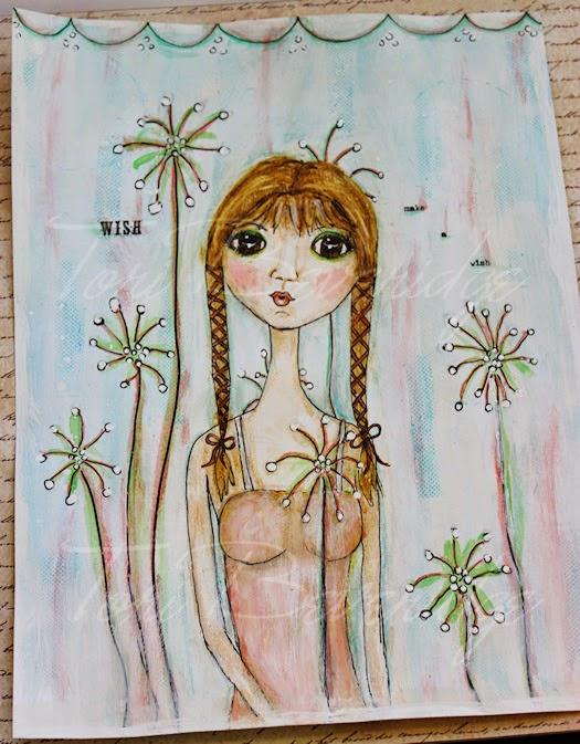 Wish Loose Journal Page by Tori Beveridge 2014